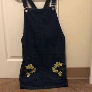 Topshop Denim Overall Dress